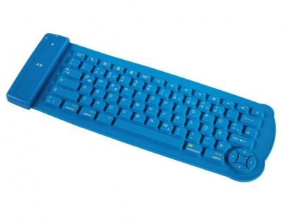 Hama Gummi Silikon Bluetooth Tastatur faltbar flexibel für Handy PC Tablet etc