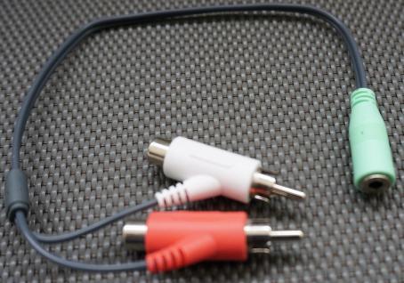 Turtle Beach CAB X1 Splitter Kabel Y-Kabel Adapter Cinch Headset für Xbox 360 TV
