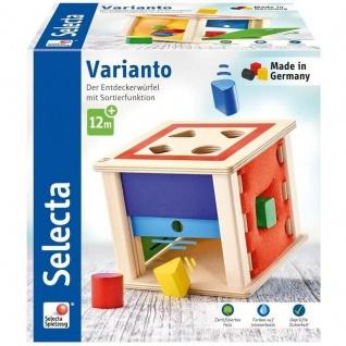 Selecta 62019 Varianto Sortierbox Spielzeug für Kinder Motorikspielzeug aus Holz