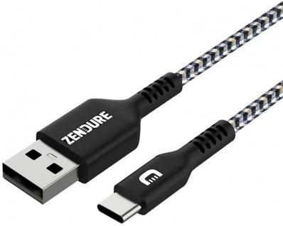Zendure HQ 2m USB-C zu USB-A-Stecker USB-Kabel Typ C Ladekabel Daten-Kabel