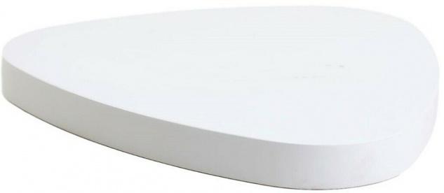 Hugo Boss Display Präsenter Platte dreieckig weiß glänzend für Schmuck Boutique
