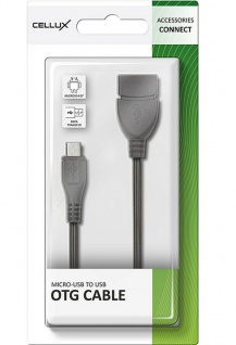 Cellux Micro-USB auf USB OTG Kabel Adapter für Android Smartphones Handy Tablet