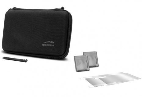 Speedlink 7in1 Set Tasche + Folie + Spiele-Hülle für Nintendo New 2DS XL Konsole