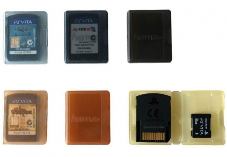 Hama Schutz-Hülle Case 6x Games 6x Memory Card Karte Box Etui für PS Vita PSV