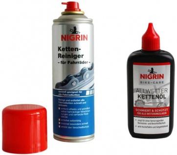 Nigrin Bike PACK Fahrrad Ketten-Reiniger + Ketten-Öl Ketten-Fett Ketten-Spray