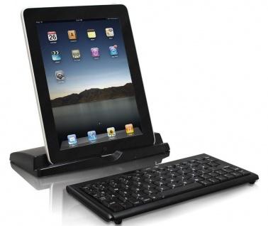 macally Bluetooth Tastatur Keyboard mit Ständer für Apple iPad iPhone MAC PC