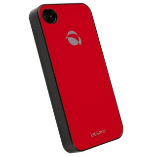 UVP39, 90? Krusell BIO Glas Cover Tasche rot für Apple iPhone 4 4S Hard-Case Etui
