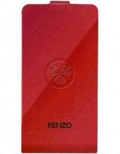 Kenzo Flip-Cover Klapp-Tasche Rot Schutz-Hülle Case Etui für Apple iPhone 4s 4