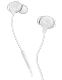 Puma Bulldogs Headset In-Ear + Mic White Sport Kopfhörer Ohrhörer Fernbedienung