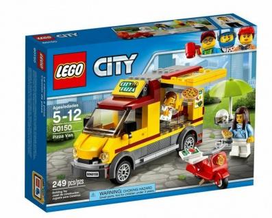 LEGO City 60150 Pizzawagen Pizza-Imbiss Essenswagen Pizzeria Baustein Spielzeug