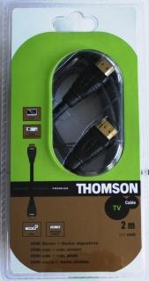 Thomson Premium HDMI-Kabel 2m 1.3c 3D 1080p Full HD TV für DVD Receiver PC LCD