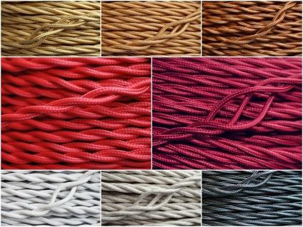 Textil Stromkabel verseilt Lampen-Kabel Stoff Verlängerungs-Kabel Stromleitung