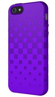 XtremeMac Design Silikon Skin Cover Lila Hülle Case Schale für Apple iPhone 5S 5