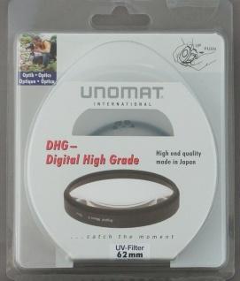 Unomat UV-Filter 62mm UV Filter Speerfilter DHG vergüted für DSLR Objektiv Foto