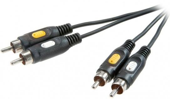 Vivanco 2m AV Cinch-Kabel RCA Video Composite + Audio mono 2x Chinch-Stecker