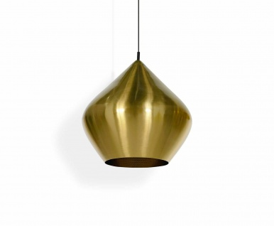 Tom Dixon Beat Stout Brushed Pendant Messing Decken-Leuchte Hänge-Lampe Messing
