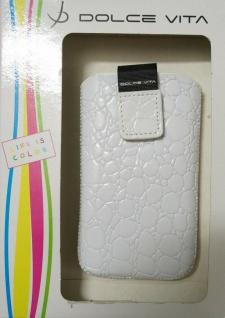 DOLCE VITA Croco Tasche Etui Case Hülle für Nokia Asha 503 501 309 E72 E71 5800 - Vorschau 4