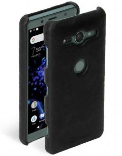 Krusell Cover Leder Case Schale Schutz-Hülle Tasche für Sony Xperia XZ2 Compact