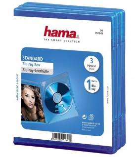 Hama 3x PACK Blu-Ray-Hüllen 1er 1-Fach Leer-Hülle Box Boxen CD DVD BluRay Disc