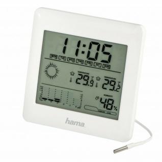 Hama Wetterstation Thermometer Hygrometer Uhr-Zeit Wecker + Außen-Temperatur