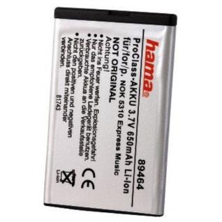 Hama Li-Ion Handy Akku 3, 7V für Nokia BL-4CT 5310 5310XM 5630 XpressMusic XM etc