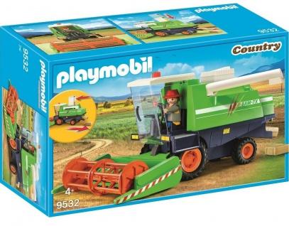 Playmobil Country Mähdrescher mit Bauer 6x Strohballen 9532 Bauernhof Fahrzeug
