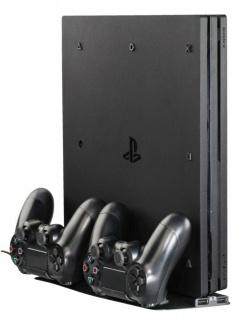 Hama Lade-Station Ständer Stand Docking Charger für Sony PS4 Slim Pro Controller