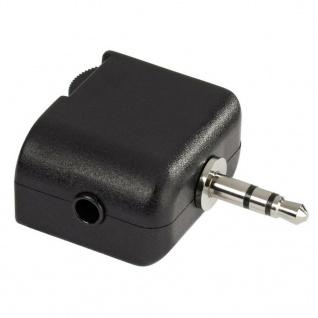 Hama Adapter 3.5-mm-Klinke Splitter 1:2 Stereo Laustärkeregelung für MP3-Player