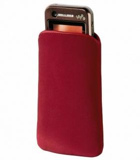 Hama Handy-Tasche Slim Universal Velvet Pouch Rot Bag Case Etui Schutz-Hülle - Vorschau 1