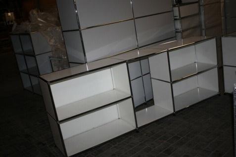 USM Haller Sideboard Regal 2FA 1 Klappe anthrazitgrau Drucker-port Ablage Tisch