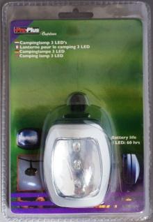 Pro-Plus Outdoor LED Camping Lampe 3x LEDs Campinglampe Leuchte Laterne Zelt
