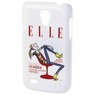 ELLE Just Relax Hard-Cover Schale Hülle Bumper Tasche für Samsung Galaxy S4 Mini