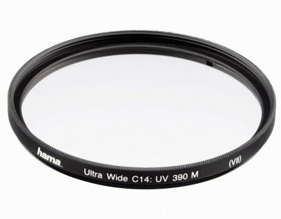 Hama UV-Filter Schutz-Filter 49mm C14-vergütet UV-390 DSLR DSLM Foto Kamera etc.