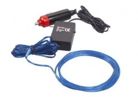 LED Wire Licht-Schnur 12V Auto PKW LKW blau Licht-Schlauch Innenraum LED-Lampe