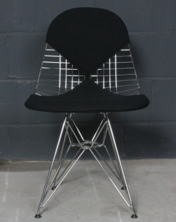Vitra Charles Eames Wire Bikini-Chair DKR-2 schwarz Eifel-Stuhl Metall-Gestell