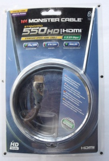 HDMI Cable 550 HD Monster 6m HDMI-Kabel HQ Stecker Full-HD-TV Anschlusskabel HD