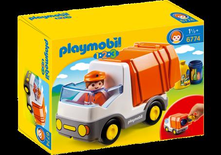 Playmobil 6774 Müllauto Spielzeug Fahrzeug Müllabfuhr mit Müllmann und Zubehör