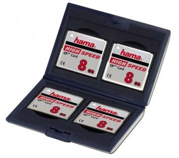 Hama Speicherkarten-Etui Case Tasche Box Fancy 4x Compact-Flash CF I II Karte