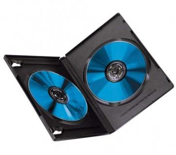 Hama 5x DVD-Hüllen für 2 DVDs 2er 2-Fach Leer-Hülle Box Case CD DVD Blu-Ray Disc - Vorschau 2