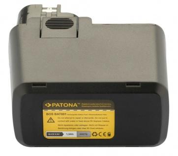 Patona Ersatz Akku 9, 6V 1500mAh für Bosch Bosch 2 607 335 035 607 335 037 BAT001 - Vorschau 4