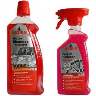Nigrin PACK Auto-Shampoo Konzentrat + Felgen-Reiniger Turbo Reinigung KFZ Pflege