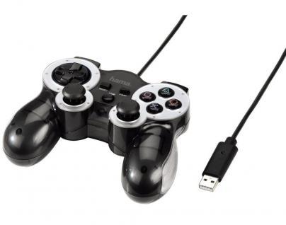 Hama Mini V3 Controller Game-Pad USB Kabel Joypad Pad für Sony PS3 Konsole PS 3