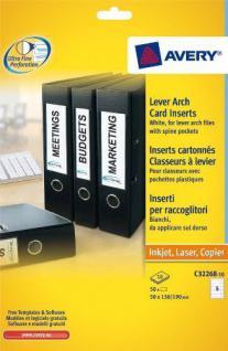 Avery Zweckform 50x Einsteck-Schilder A4 Ordner-Etiketten breit Ordnerrücken