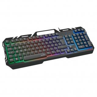 Speedlink ORIOS Metall Gaming-Tastatur RGB-Beleuchtung Keyboard Anti-Ghosting