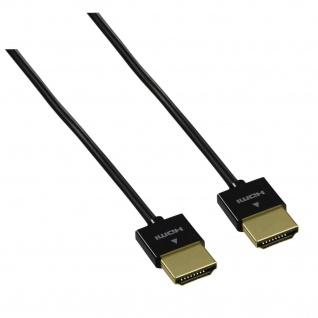 Hama High Speed HDMI Kabel Travel mit Ethernet 1, 5m Vergoldet 4K 3D für PC TV
