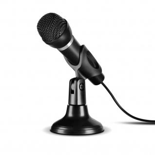 Speedlink CAPO USB Tisch-Mikrofon Handmikrofon Standfuß Plug&Play für den PC