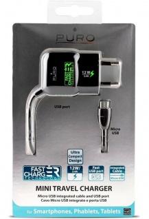 Puro Schnell-Ladegerät Micro-USB 2, 4A USB-Port Lader Stecker-Netzteil Adapter