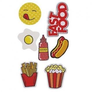 Puro Patch Sticker Kit Aufkleber Handy-Hülle Abziehbar Fast Food Pommes Hot-Dog