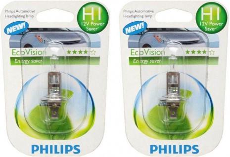 2x Philips H1 Eco-Vision 12V 55W Energysaver Auto-Lampe Auto-Birne Halogen-Lampe