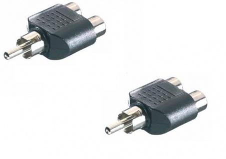 2x Set Vivanco Y-Adapter 1x Cinch-Stecker - 2x Cinch-Kupplung Audio RCA Adapter